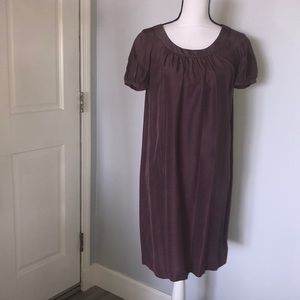 100% silk Martin + Osa casual lilac dress